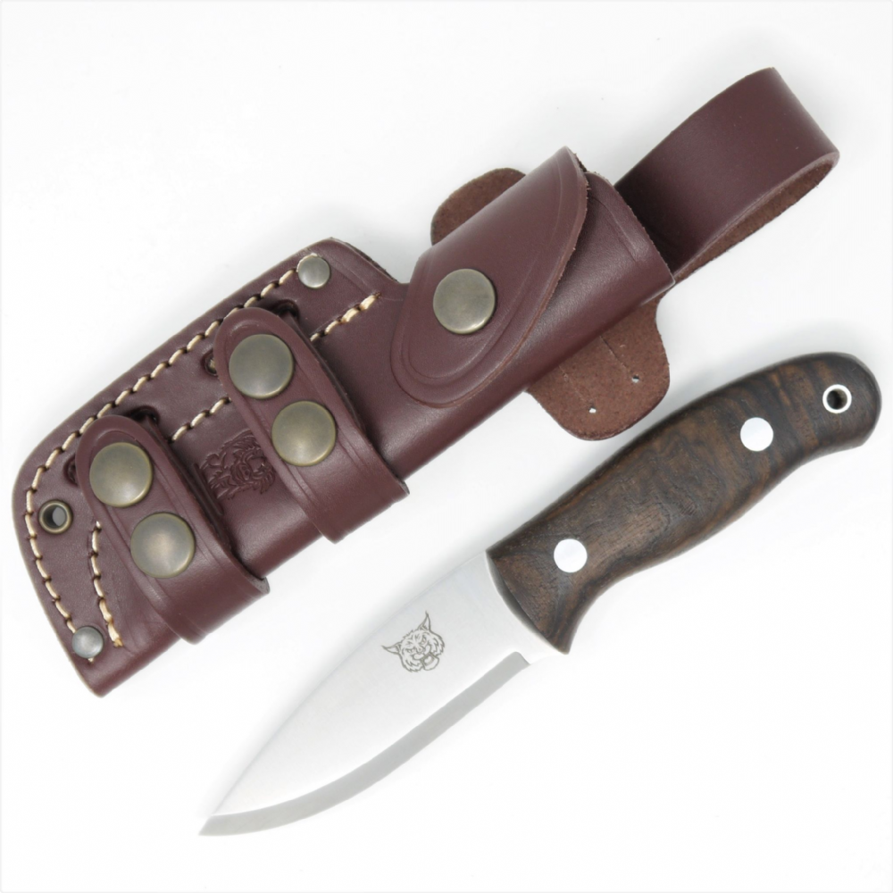 Mk I TBS Lynx Bushcraft Neck Knife - Turkish Walnut - Multi Carry Sheath